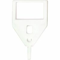 Schlüsselanhänger KyStor KR-A, weiss, Packung à 10 Stück