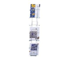 Prospekthalter BoOffice, für A4 hoch, 6 Fächer, silber