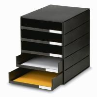 Schubladensystem Styroval Oeko, 16-8001, 5 Schubladen, schwarz