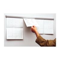 Papierschiene Gripdoc, Länge 88 cm, hellgrau
