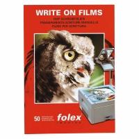 OHP-Folien Folex, A4, für Handschrift, Block à 50 Stück