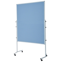 Moderationswand Berec Design, ungeteilt, 150x120 cm, blau/grau