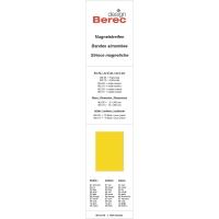Magnetstreifen Berec Design 10x300 mm, gelb, Packung à 6 Stück