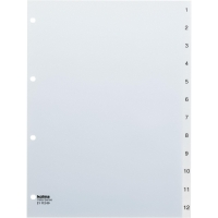 Register Kolma Vista 2111200 A4, Kunststoff, 1-12, farblos
