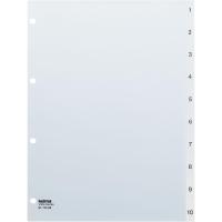 Register Kolma Vista 2111400 A4, Kunststoff, 1-10, farblos