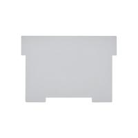 Schwenkplatte zu Karteikasten Styro A6 quer, grau, Packung à 2 Stück