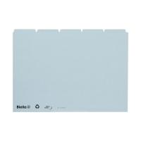 Leitkartenregister Biella 210555 A5, blanko, 25teilig, 5/5 Fahnen, blau