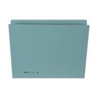 Einlagemappe Biella 255424 für A4 31,7x22/23,5 cm, 240 g/m2, blau, Pk. à 100 Stk