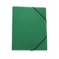 Gummizugmappe Erola 33299 A4, Presspan 650 g/m2, grün