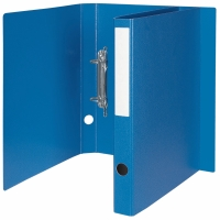 Ringbuch Biella Varia 153403 A4, 2-Ring, genarbt, 3 cm Rücken, blau