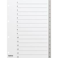Register Kolma 1811503 A4, PP, 1-15, grau
