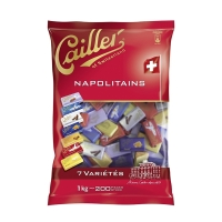 Napolitains Cailler, assortiert, Packung à 1 kg / 200 Stück