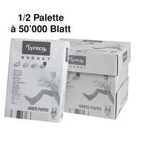Kopierpapier Lyreco Budget A4, 80 g/m2, 1/2 Palette à 50 000 Blatt