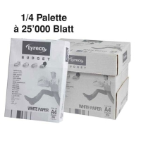 Kopierpapier Lyreco Budget A4, 80 g/m2, 1/4 Palette à 25 000 Blatt