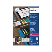 Visitenkarten Avery Zweckform C32026, 85x54 mm, Laser, weiss, Pk. à 250 Stk.