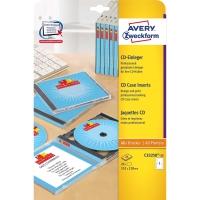 Einleger CD/DVD Avery Zweckform C32250, weiss, Packung à 25 Stück