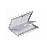 Visitenkartenbox Durable 243323, Aluminium
