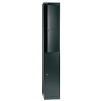 Garderobenschrank Bisley CLK182-833, 30,5x45,7x180,2 cm (BxTxH), schwarz