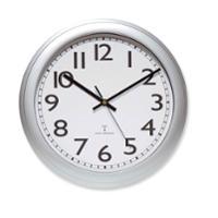 Wand-Uhr Unilux Wave, 30,5 cm, silber