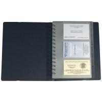 Visitenkarten Zeigbuch Exacompta Exacard 75034E 148x202 mm, mit Index A Z, swz
