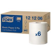 Handtuchrolle Tork 121206/ M2, 2-lagig, weiss, Packung à 6 Rollen