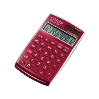 Taschenrechner Citizen CPC-112 Basic+, 12-stellige Anzeige, weinrot