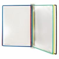 Wandsichttafelsystem Tarifold 6416169, A4, magnetisch, inkl. 5 Taschen ass.