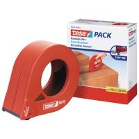 Verpackungsband Handabroller Tesa 6076, bis 50 mmx66 m, Metall, orange