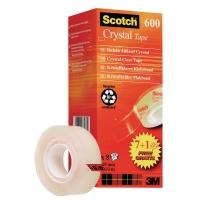 Klebeband Scotch 600, 19 mmx33 m, 7+1, Packung à 8 Stück