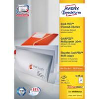 Etiketten Avery Zweckform 3659-200, 97x42,3 mm, weiss, Packung à 2400 Stück