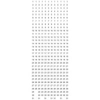 Datumstreifenset Berec, mit 12 magnetischen Streifen, vertikal