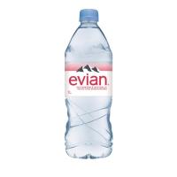 Evian Mineralwasser ohne Kohlensäure 1 l, Packung à 6 Flaschen