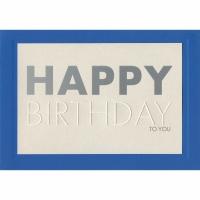 Doppelkarte ABC 0162592, Geburtstag, 148x210 mm, englisch