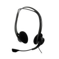 Headset mit Mikrofon Logitech PC 960 mit USB, schwarz
