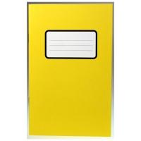 Schulheft Stab 8° 11x17,5cm, 4 mm kariert, 20 Blatt gelb