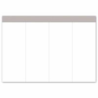 Sparblock Ursus A5, blanko, 60 g/m2, 4 x 100 Blatt