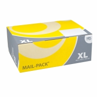 Versandschachtel Nips Mail-Pack XL 28835.70, 460x175x335 mm, gelb/grau
