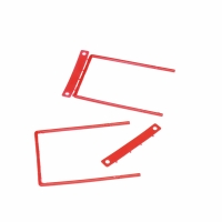 Heftverschluss D-Clip, rot, Packung à 100 Stück