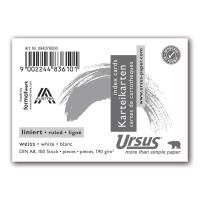 Karteikarten Ursus A8, liniert, weiss, Packung à 100 Stück