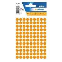 Etiketten Herma 1844, 8 mm, rund, leuchtorange, Packung à 540 Stück