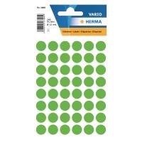 Etiketten Herma 1868, 12 mm, rund, leuchtgrün, Packung à 240 Stück