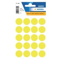 Etiketten Herma 1884, 19 mm, rund, leuchtgelb, Packung à 100 Stück