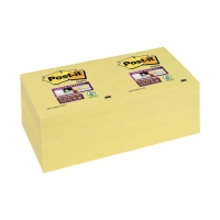 Haftnotizen Post-it SuperSticky 654-12SSCY,76x76mm, 90 Blatt,gelb, Pk. à 12 Stk.