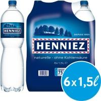 Henniez Blau Mineralwasser ohne Kohlensäure 1,5 l, Packung à 6 Flaschen