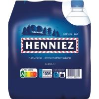 Henniez Blau Mineralwasser ohne Kohlensäure 50 cl, Packung à 6 Flaschen