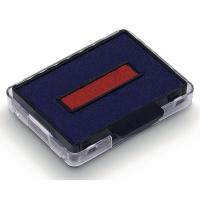Ersatz-Stempelkissen Trodat 6/50, rot/blau, Packung à 2 Stück