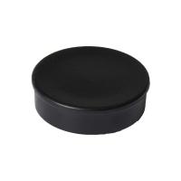 Haft-Magnet Berec, mit Kunststoffkappe, rund, 30 mm, schwarz, Packung à 10 Stück