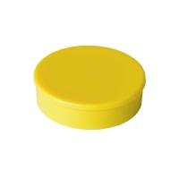 Haft-Magnet Berec, mit Kunststoffkappe, rund, 30 mm, gelb, Packung à 10 Stück