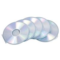 Slimline CD/DVD Cases Fellowes, rund, transparent