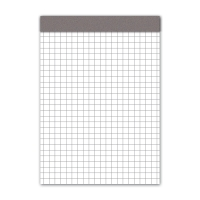 Notizblock A6, 70 g/m2, 4 mm kariert, 100 Blatt